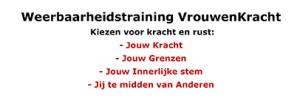 Flyer Weerbaarheidstraining VrouwenKracht
